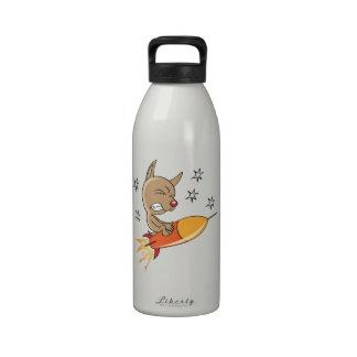 Perro del espacio botellas de beber