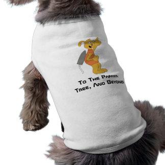Perro del espacio del dibujo animado playera sin mangas para perro