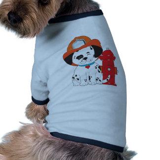 Perro del fuego de Dalmation Camisa De Mascota