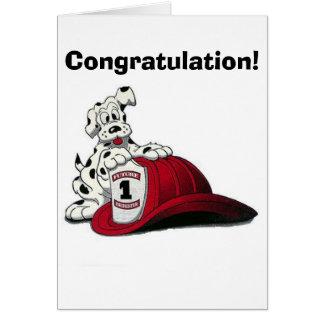 ¡Perro del fuego, enhorabuena! Tarjeta De Felicitación