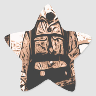 perro del fuego calcomanía forma de estrella personalizadas