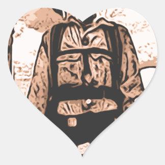 perro del fuego pegatina corazon personalizadas