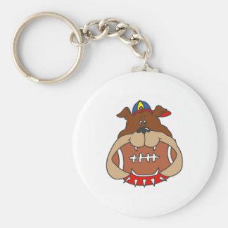perro del fútbol llavero personalizado