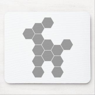 Perro del futuro del hexágono mouse pads