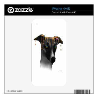 Perro del galgo iPhone 4 skin