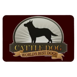 Perro del ganado imán rectangular