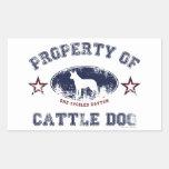 Perro del ganado pegatina rectangular