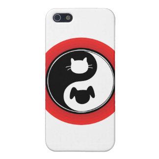 Perro del gato de Yin Yang iPhone 5 Funda