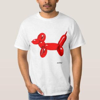Perro del globo - camiseta blanca remera
