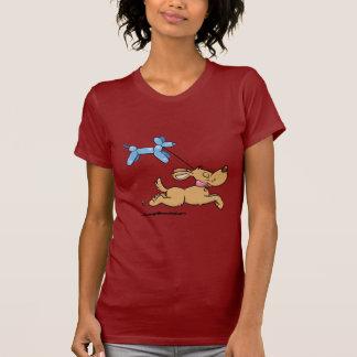 Perro del globo camiseta