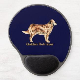 Perro del golden retriever - cojín de ratón adapta alfombrillas de ratón con gel