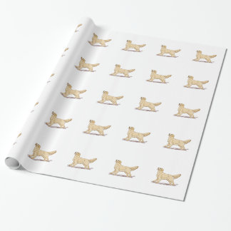 Perro del golden retriever papel de regalo