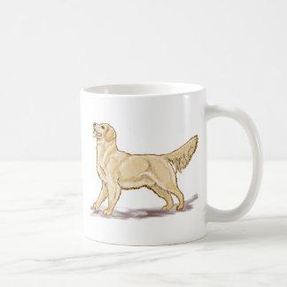 Perro del golden retriever taza básica blanca