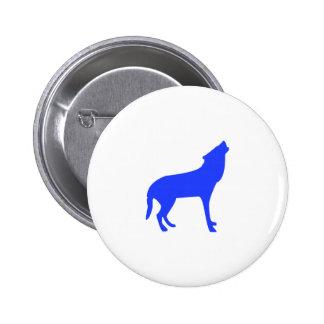 Perro del grito pin redondo de 2 pulgadas