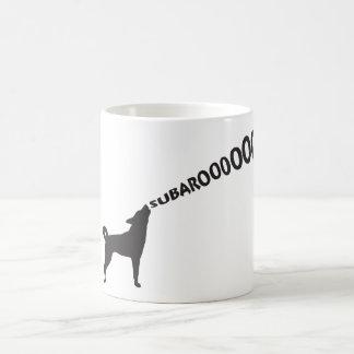 Perro del grito Subaru Taza De Café