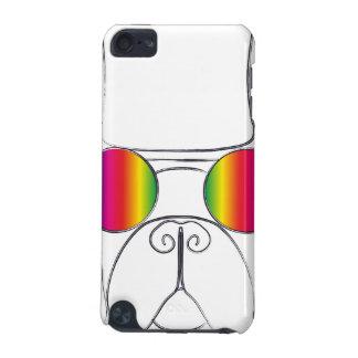 Perro del Hippie del arco iris Funda Para iPod Touch 5G