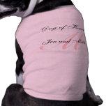 Perro del honor que casa medio rosado de la camisa playera sin mangas para perro