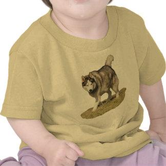 Perro del husky siberiano camiseta