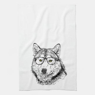 Perro del inconformista toalla de mano