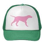 Perro del indicador (en rosa) gorra