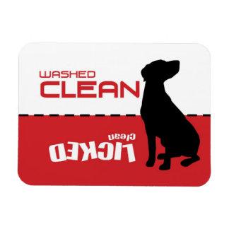 Perro del indicador, imán del lavaplatos - limpio