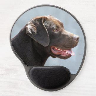 Perro del labrador retriever alfombrilla de ratón con gel