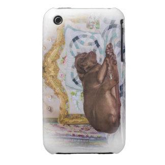 Perro del labrador retriever, durmiendo, caso del funda para iPhone 3