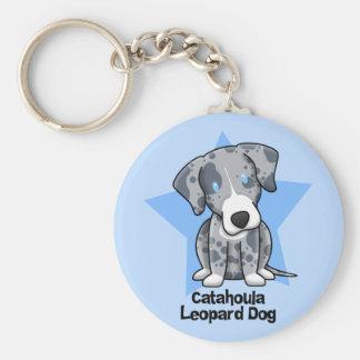 Perro del leopardo de Catahoula de la estrella de  Llavero Personalizado