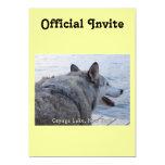 Perro del lobo del lago Cayuga Invitación 12,7 X 17,8 Cm
