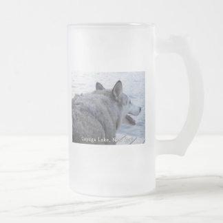 Perro del lobo del lago Cayuga Tazas