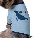 Perro del lobo más allá de la vida camisa de perrito