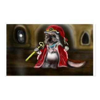 Perro del mago tarjetas de visita