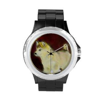 Perro del Malamute de Alaska Reloj