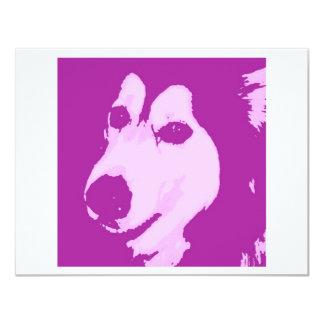 """Perro del Malamute Invitación 4.25"""" X 5.5"""""""