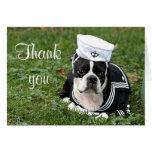 Perro del marinero del terrier de Boston Tarjeta De Felicitación