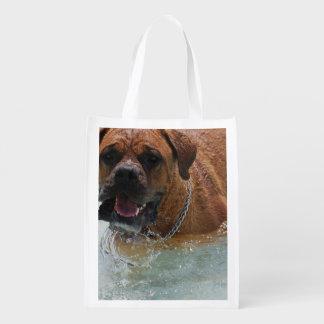 Perro del mastín de Burdeos Bolsas De La Compra