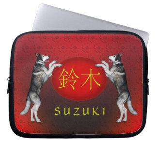 Perro del monograma de Suzuki Funda Portátil