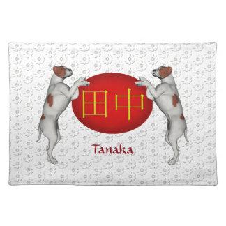 Perro del monograma de Tanaka Mantel