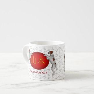 Perro del monograma de Yamamoto Taza Espresso