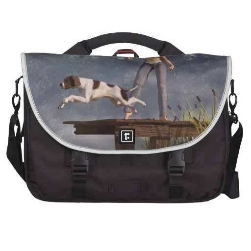 Perro del muelle bolsas para ordenador
