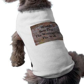 Perro del mundo de la ropa del mascota el mejor… playera sin mangas para perro