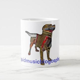Perro del Musical del Blogosphere Taza Extra Grande