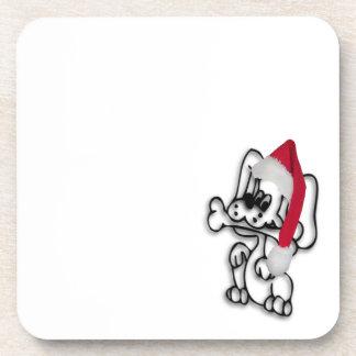 Perro del navidad posavasos de bebidas