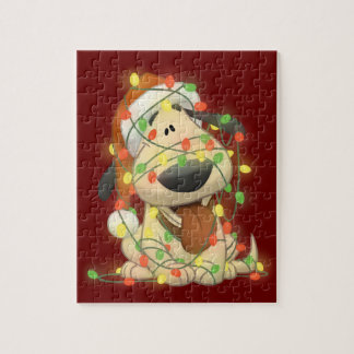 Perro del navidad rompecabezas con fotos