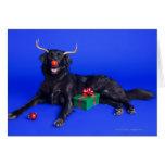 Perro del navidad tarjeta de felicitación