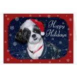 Perro del navidad tarjetón