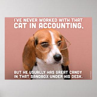 Perro del negocio poster