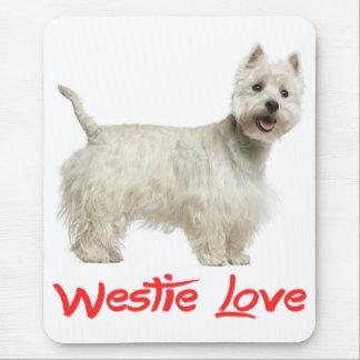 Perro del oeste blanco Mousepad de Terrier de la Alfombrilla De Raton