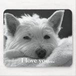 Perro del oeste lindo Mousemat/Mousepad de Terrier Alfombrillas De Ratón