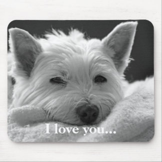 Perro del oeste lindo Mousemat/Mousepad de Terrier Mousepad